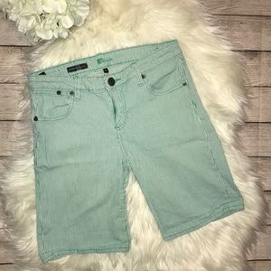 Kut from the Kloth Catherine Green Stripe Shorts